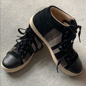 Ugg Taylah leather and woven sneakers.